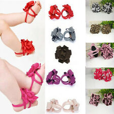 0-12M Baby Toddler Girls Barefoot Cute Flower Sock Sandals Toe Blooms Shoes
