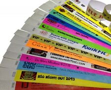 "500 PLAIN or CUSTOM PRINTED 1"" or 3/4"" Tyvek Wristbands (like paper), events,"