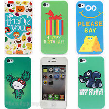 Funny Animals Design Hard Plastic Back Protector Case Cover Skin for iPhone 4 4S