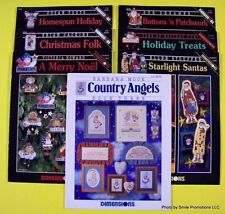 Dimensions CROSS STITCH Angels Christmas Santas Ornaments Snowman Holiday