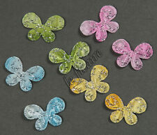"U PICK ~ 1"" Padded Butterfly Appliques Hair Clippies Headbands x 80 pcs #2606"