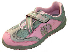NIB Girls Clarks Pink Leather Shoes Trainers ELSIE ROAMS  5 - 9.5 F+G Track Del