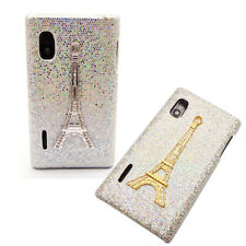 3D Luxury Crystal Diamond Pairs Tower Shiny Case Cover for LG Optimus L5 E612
