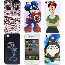 Cute Owl Animals Image PC Hard Back Shell Case Skin Cover for Apple iPhone 4 4S
