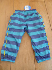 MARKS AND SPENCER BLUE STRIPE MESH LINED WATER RESISTANT TROUSERS 18 24 MONTHS