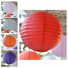 """Package of 3 Round Asian Style Chinese Round Lanterns 12"""" Hanging Multi Color"""