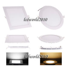 LED Panel 3W 4W 6W 9W 12W 15W 18W Light Recessed Ceiling AC85V-265V Warm Cool A+
