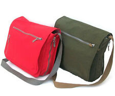 "Men's Womens Messenger Shoulder Bag Briefcase Laptop 13.3"" Tote Green or Red"