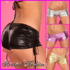 NEW SEXY LADIES CLUB DANCE WEAR 8 10 12 WOMENS MICRO MINI SHORTS HOT PANTS S M L