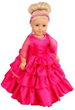 "FRILLY LILY ""CARMEN"" HOT PINK  PROM DRESS SET  FOR 14-18 INCH[35-40 CM] DOLLS"