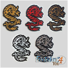 CHINESE DRAGON SHAOLIN KUNG FU MARTIAL ART TATTOO APPLIQUE PLAIN IRON ON PATCH