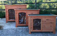 Dog Kennel Wooden Pet House Puppy Outdoor Removable Floor Opening Roof Easipet