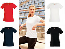 SS016 Ladies New Fruit Of The Loom Sport Performance Wicking Breathable T-shirt