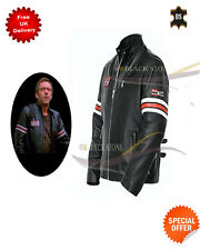 men's motorcycle leather jacket or casual black leather jacket movie jacket
