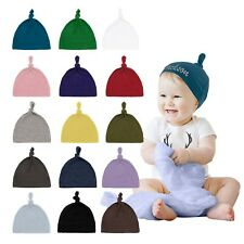 Mato & Hash 100% Cotton Adjustable Infant Baby Knot Hat Cap