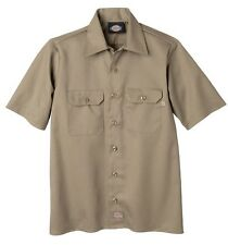 Dickies 1574 Mens Short Sleeve Work Shirt. Black, Navy, Khaki, Desert Sand