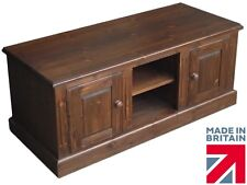 Solid Pine T.V Cabinet, Handcrafted & Waxed TV Stand, Multi Media Storage Unit