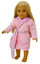 FRILLY LILY FLOWER TRIM WRAP DRESSING GOWN  FOR DOLLS AND BEARS, LOTS OF SIZES!