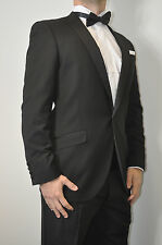 Formal Tailor Mens Black Single Breasted Peak Lapel Dinner Suit
