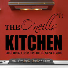 KITCHEN wall stickers name family personalised decal home sticker quotes decals