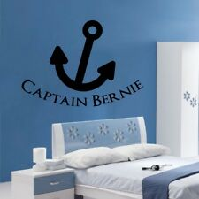 PIRATE wall stickers personalised boys bedroom transfers kids name quote vinyl