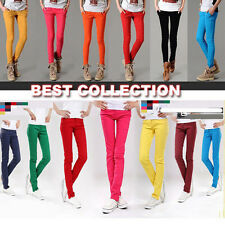 Pro Womens Ladies New Sexy Candy Pencil Pants Skinny Slim Stretch Colors Jeans