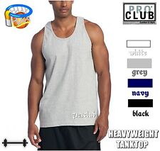 1 New men's PROCLUB HEAVY WEIGHT TANK TOP plain color PRO CLUB blank M - BIG 5XL