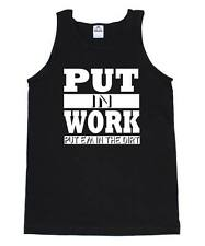 PUT IN WORK ASAP A$AP FERG ROCKY MOB TRAP LORD SHABBA HIP HOP RAP TANK TOP