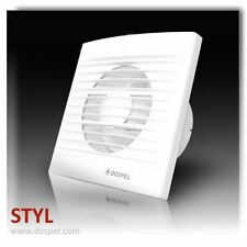 """100-150mm (4""""-6"""") Quiet Bathroom Air Extractor Fan with Pull Cord and Power Lead"""