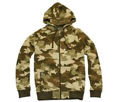 BRAND NEW L-R-G CAMOUFLAGE ZIP UP HOODY BROWN SIZE L-XXL