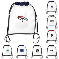 NFL 2013 Clear Drawstring Backpack Bag - See Through Football Stadium -In Stock!