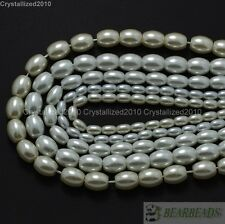 Top Quality Czech Glass White Pearl Oval Rice Loose Beads 6mm 7mm 8mm 9mm 16''