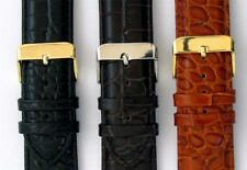 Alligator Grain Padded Italian Calf Leather Watch Strap 18-24mm Three Colours