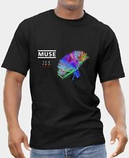 MUSE 2 T-SHIRT MENS BLACK FRUIT OF THE LOOM HIGH QUALITY DTG