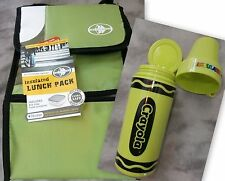 Arctic Zone Insulated Lunch Pack Cooler Bag/Free Food Container&Crayola Thermo