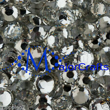 Crystal Clear Flat Back 14 Facets Resin Rhinestones Diamante Strasse Craft Gems