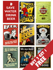 BEER WHISKEY WINE RETRO SIGN POSTERS * LARGE NOSTALGIC ADVERTISING VINTAGE DECOR