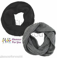Mens SOFT Snood Scarf Mens Knitted Snood Unisex Soft Warm Woolly Snood Scarf