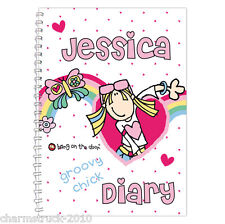 NEW PERSONALISED CHILDRENS DIARY & PLANNER 15 DESIGNS TO CHOOSE FROM & ANY NAME
