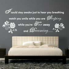 AEROSMITH Wall Sticker citation de respiration Paroles Musique Chambre Decal Vinyle Transfert