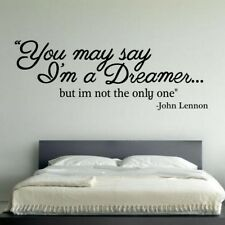 JOHN LENNON wall sticker dreamer imagine lyrics decal vinyl quote stickers mural