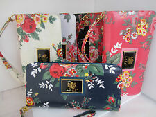 Floral Print Purse Clutch LYDC With Wrist Strap 2 Colours Only Available Boxed