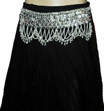 BELLY DANCE COINS METAL CHAIN BELT HIP SCAVE GOLD/SILVER