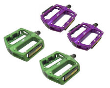 """ONZA ZOOT Cycle PEDALS BMX / ATB Purple or Green 9/16"""" Alloy"""