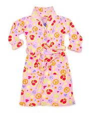 GIRLS CARTERS PINK PEACE MOTIF DRESSING GOWN S M L XL XMAS GIFT FAST DELIVERY