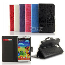 Wallet Crocodile PU Leather Stand Case Cover For Samsung Galaxy Note III 3 N9000