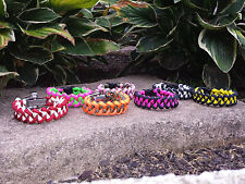 Shark Jaw Bone Paracord Survival Bracelet Handmade In The USA with 550 Paracord