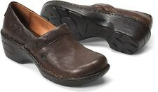 Born Women's Toby Casual Closed Back Leather Clog Comfort Shoes Cafe W82030