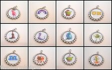 Monsters Inc University Clip-on Bottlecap Charms - add to jewellery,zips,crafts