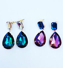 Beautiful, Sparkly Diamond Crystal Teardrop / Pear / Drop Earrings Chi22 London